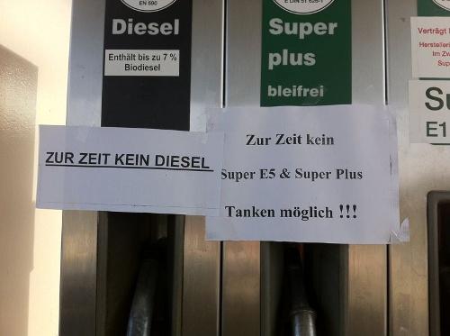 Aufgenommen an der GO-Tankstelle, Dresden Hansastraße