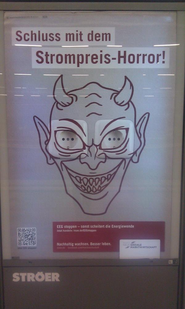 Werbung am Hauptbahnhof Berlin im Oktober 2012